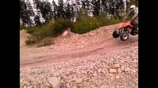 1. Riding the Tony Stewart DVX 400 Artic Cat, and the Yamaha Blaster