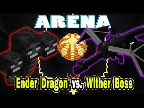 Minecraft Arena Battle Enderdragon vs. Wither Boss