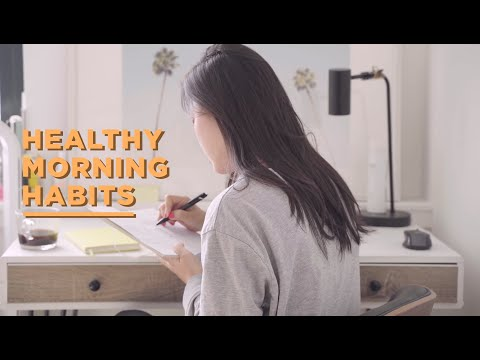 🌞Healthy Morning Routine 2019 • Habits For Productivity & Success + Free Downloadable Habit Tracker