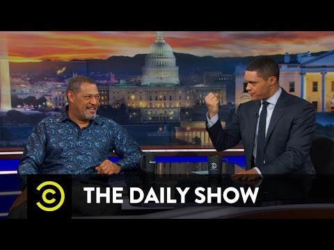 Trevor Noah tells Laurence Fishburne a Story from when he was in