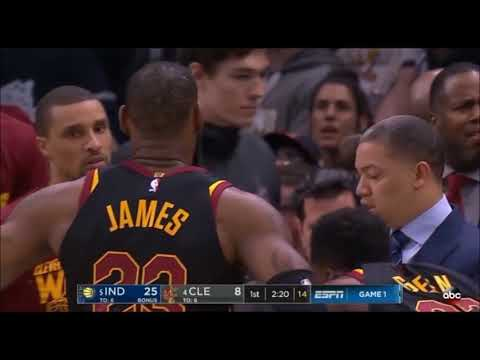 King Flop, LeBron James, flops horribly in Cavs game 1 loss to Pacers
