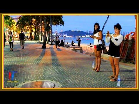 Video Night walk along the Beach Road, Pattaya, October 2017, Vlog 156 download in MP3, 3GP, MP4, WEBM, AVI, FLV January 2017