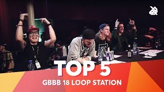 TOP 5 DROPS 😱 Grand Beatbox Battle Loopstation 2018