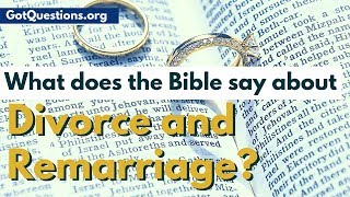 What does the Bible say about divorce and remarriage? There their biblical reasons for divorce, or biblical grounds for divorce? In this video, Pastor Nelson with ...