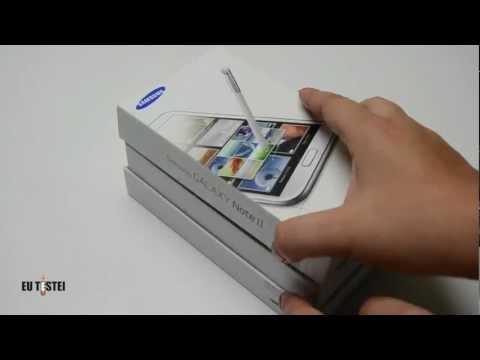 Phablet Samsung Galaxy Note II N7100 – Unboxing Brasil