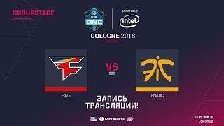 FaZe vs fnatic - ESL One Cologne 2018 - map1 - de_overpass [ceh9, Enkanis]