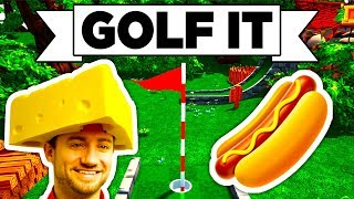 Golf It! - •• THE WET WEINER, • SALTY CHEESE, • LAVA GOLF! (Multiplayer Gameplay / Let's Play)