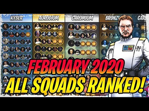 ALL BEST SQUADS RANKED! - February 2020 - All The Very Best Teams in Galaxy of Heroes