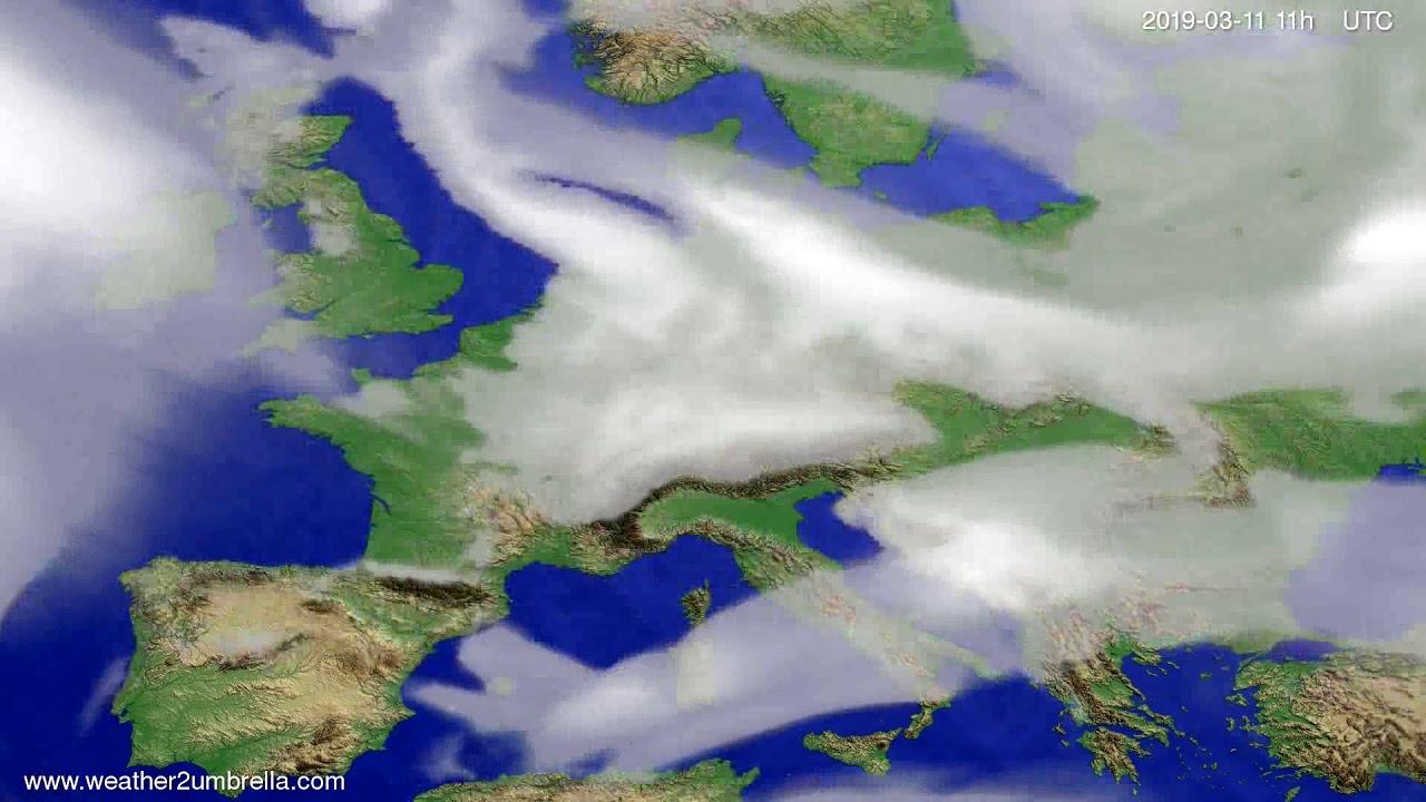 #Weather_Forecast// Cloud forecast Europe 2019-03-10