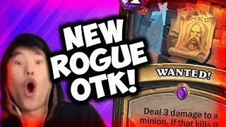 PLAYING THE NEW OTK ROGUE! | THE WITCHWOOD | HEARTHSTONE | DISGUISED TOAST