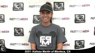 2021 Kalissa Martin Outfield Softball Skills Video - Firecrackers
