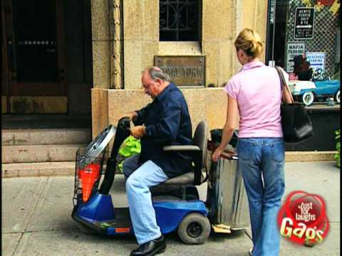 Stalled Electric Wheelchair Prank