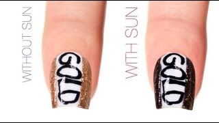 Be The Gold Color-Changing Nail Art Design