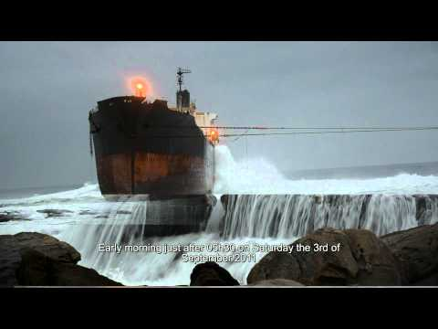 ship runs aground - The tanker, the MT Phoenix got in trouble in the vehement storm that was belting on the Kwazulu-Natal north coast on the 26th of July 2011. It eventually str...