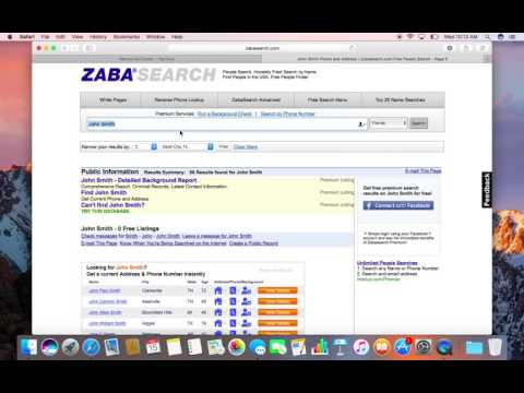 How To Find Sellers Phone Numbers Using Zabasearch
