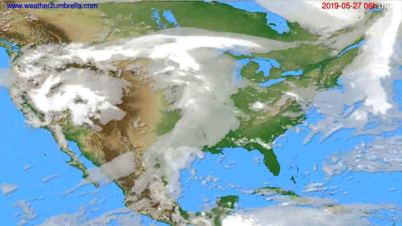Cloud forecast USA & Canada // modelrun: 12h UTC 2019-05-24