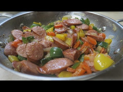 Kielbasa Sausage Peppers And Onions Recipe Low Carb | Episode 237