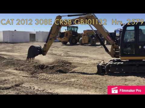 CATERPILLAR TRACK EXCAVATORS 308E CRSB equipment video vXo5Q0vttCo