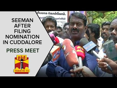 Seemans-Press-Meet-After-Filing-Nomination-in-Cuddalore-Constituency--Thanthi-TV