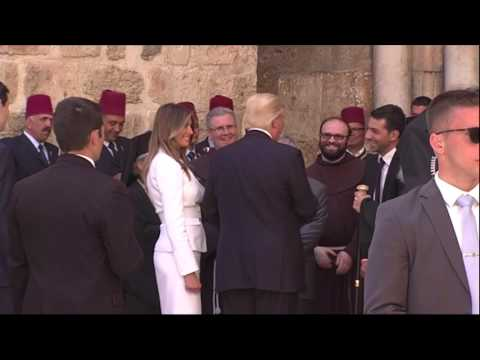 Trump visits the Church of the Holy Sepulcher in Jerusalem (видео)