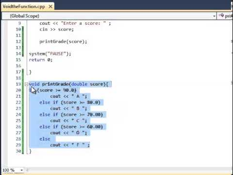 C++ Tutorial- Void Functions