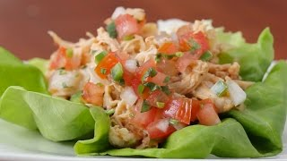 Creamy Chipotle Chicken Lettuce Cups by Tasty