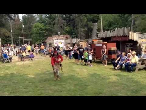 Native American dance demonstration during Cowboy weekend at Coopersville Old West Town July 5th '15