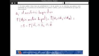 Umh2072 2013-14 Unidad 2 Conceptos De Probabilidad Y Test De Diagnóstico. Problema 4