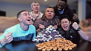 Video 130 Chicken Nuggets in 10 Minutes CHALLENGE! MP3, 3GP, MP4, WEBM, AVI, FLV April 2018