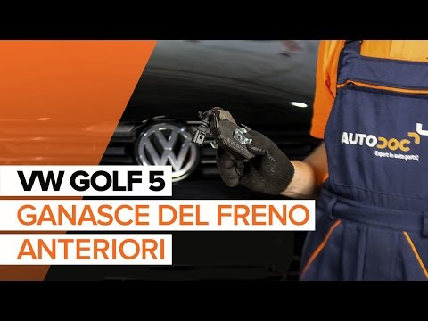 Come sostituire le ganasce del freno anteriori su VW GOLF 5 [TUTORIAL]