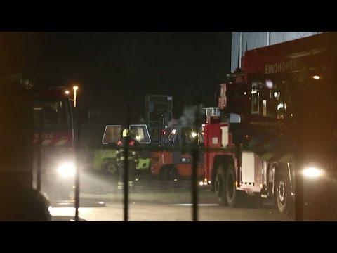 Brand bij Frencken Machinehandel in Eindhoven