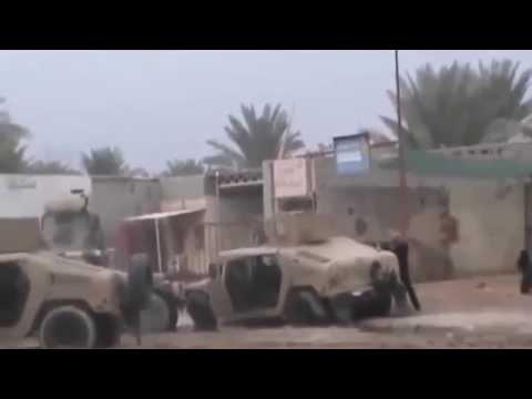 Атака боевиков ИГИЛ на военный конвой.  Ирак.  ИГИЛ. - DomaVideo.Ru