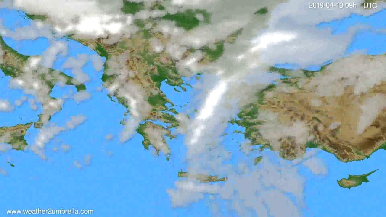 Cloud forecast Greece // modelrun: 12h UTC 2019-04-11
