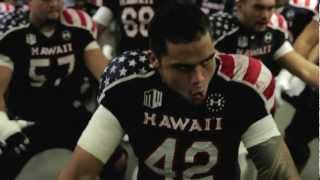 University of Hawai'i Warrior Football Team Pre-game Haka vs. UNLV on Military Night.