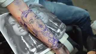 Tattoo Timelapse _____ The Art Studio Tattoos & Art by Rachel van Mechelen______