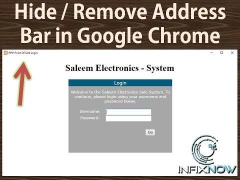 Hide / Remove address bar in google chrome