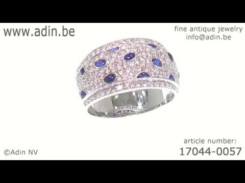 Vintage diamond and sapphire ring top quality. (Adin reference: 17044-0057)