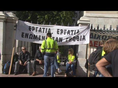 Συγκέντρωση διαμαρτυρίας μεταλλωρύχων της Χαλκιδικής έξω από το ΣτΕ