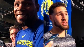 Kevin Durant & Klay on playing against Steph Curry in the All Star Game | 2019 NBA All Star Game