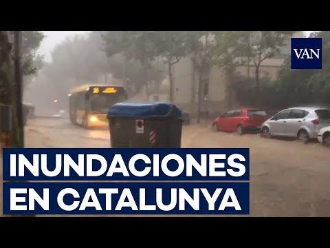 Fuertes tormentas inundan Catalunya