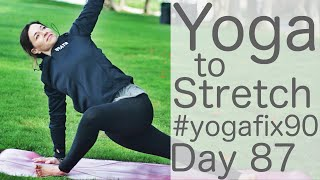 Video 33 Minute Yoga to Stretch Day 87 Yoga Fix 90 with Fightmaster Yoga MP3, 3GP, MP4, WEBM, AVI, FLV Maret 2018