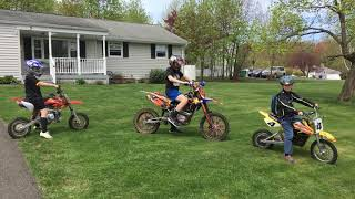 8. Kids on dirt bikes in the neighborhood ssr 70cc Ssr 150cc and razor MX 650