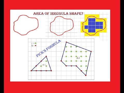 How To Find The Areas Of Irregular Shapes (including Pick's Formula)