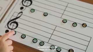 Как сделать нотный стан своими руками из пуговиц