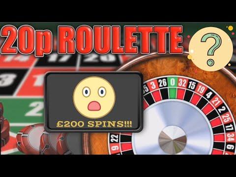 20p ROULETTE - ONLINE - MASSIVE SPINS - £200 (FOBT)