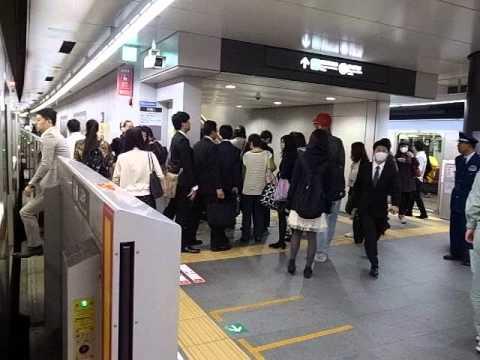 New Toyoko-Shibuya Station - Yokohama-Bound Train 新東横渋谷駅の様子 (130319)