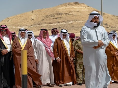 HRH the Crown Prince performs funeral prayers for the late HH Shaikh Ahmed bin Mohammed bin Salman Al Khalifa
