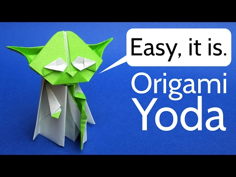 How to Make an Origami Master Yoda