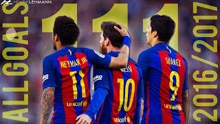 "Download the Onefootball app here: http://bit.do/HenrikLehmann_MayAll goals by the MSN trio for FC Barcelona in the 2016/17 season. Enjoy!Click ""Show more"" to see the music and more!● Edited and produced by: Henrik Lehmann    Twitter: https://twitter.com/henriklehmannn● Arabic speaking? Check out FCB World:    Twitter: https://twitter.com/FCBW_A7♫ Music: Steam Phunk - Stay, Steam Phunk - Phunky● Clips from: La Liga, MNcompsJR, SH10Comps etc.Thank you for watching! Please leave a like if you enjoyed and if you didn't, leave a dislike and tell me what I can do better. I'm always thankful for constructive critisism! Subscribe to my channel to watch my latest videos as they come out.""Copyright Disclaimer Under Section 107 of the Copyright Act 1976, allowance is made for ""fair use"" for purposes such as criticism, comment, news reporting, teaching, scholarship, and research. Fair use is a use permitted by copyright statute that might otherwise be infringing. Non-profit, educational or personal use tips the balance in favor of fair use."""