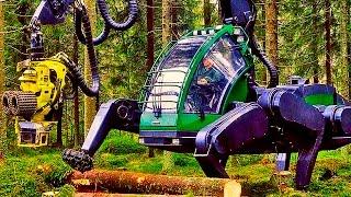 А это Харвестеры - техника, с помощью которой не сажают, а валят лес :(